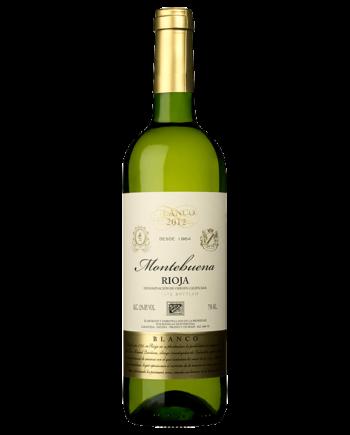 bottle of Montebuena Blanco Viura Bodegas Labastida