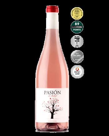 bottle of Pasion de Bobal Rosé 2017 Bodegas Sierra Norte