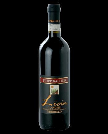 bottle of Filippo Gallino Nebbiolo Licin Langhe