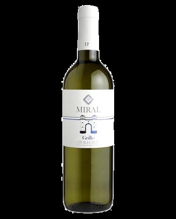 bottle Grillo Miral Cantine Fina DOC Sicilia organic wine