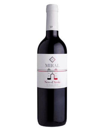 bottle Nero d'Avola Miral Sicilia DOC Cantine Fina organic wine